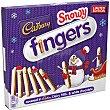 Snowy Fingers de galletas cubiertos de chocolate blanco y con leche Estuche 230 g Cadbury