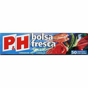 P & H Bolsa fresca de congelación 15x28 Caja 50 unidades