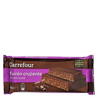Carrefour Turrón de chocolate negro crujiente 300 g