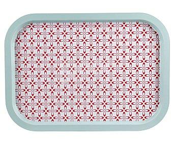 Gers Bandeja metálica color azul y rojo, diseño vintage, 40x29cm., GERS.