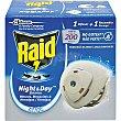 Night&day insecticida eléctrico antimosquitos difusor + recambio Caja 1 ud Raid