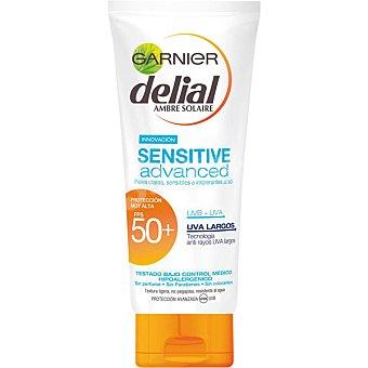 Delial Garnier Advanced leche bronceadora para rostro y cuerpo FP-50+ resistente al agua tubo 200 ml para piel clara sensible e intolerante al sol Sensitive Tubo 200 ml
