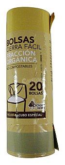 Bosque Verde Bolsa basura pequeña organica cierre facil 45 x 47 - cubo especial (beige) - 10L 20 bolsas