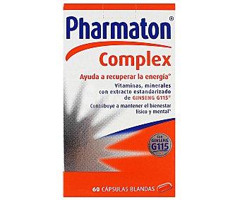 PHARMATON Complex Complemento aliementicio (vitaminas y minerales con extracto estandarizado de ginseng) 60 cápsulas