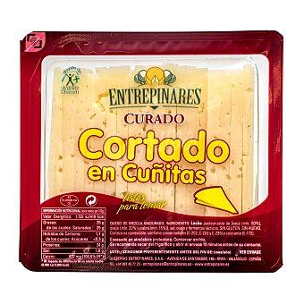 Entrepinares Queso curado cortado en cuñitas Paquete 280 g aprox