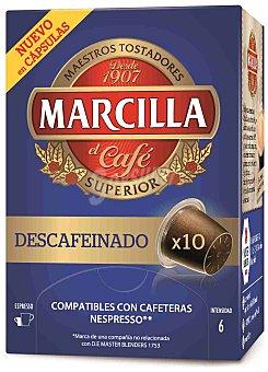 Marcilla Café Descafeinado Monodosis 10 Unidades
