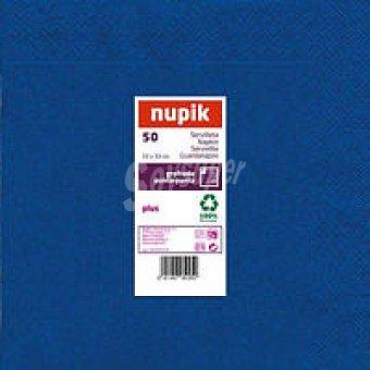 Nupik Servilletas azul 33x33 Paquete 50 unid