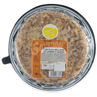 Carrefour Tortilla rellena de jamón y queso Bandeja de 700 g