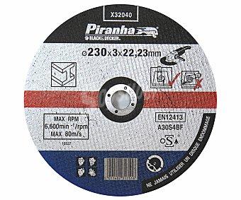 PIRANHA Disco de Corte para Metal de 230 Milímetros de Diámetro 1 Unidad