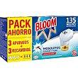 Insecticida volador eléctrico antimosquitos común y tigre pack 3 aparatos + 3 recambios pack 3 Bloom