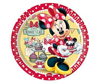 Disney Plato desechable de cartón con diseño Minnie Mouse, 23 centímetros de diámetro Pack de 8 unidades