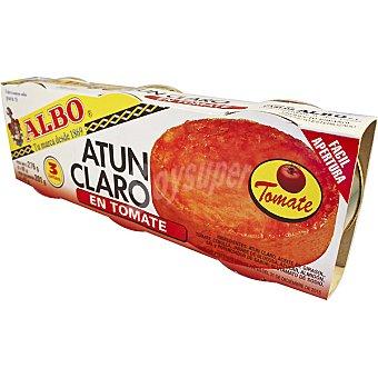 Albo Atún claro en tomate pack 3 latas 67 g neto escurrido Pack 3 latas 67 g