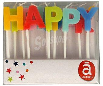 Actuel Velas de cumpleaños de colores Happy Birthday, actuel