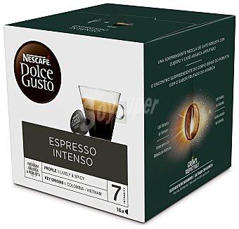 Dolce Gusto Nescafé Café espreso intenso en monodosis nescafé 16 uds