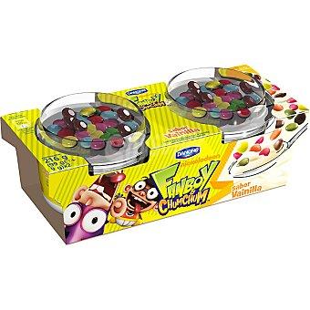 Danone Yogur sabor vainilla con confites de chocolate Diver Mix pack 2 unidades 108 g Pack 2 unidades 108 g