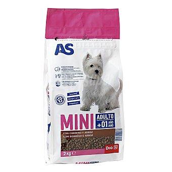 AS Alimento para perros de razas pequeñas cordero arroz Bolsa 2 kg