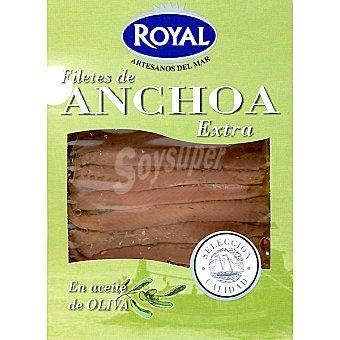 Royal Pescados Anchoa extra en aceite de oliva Envase 80 g