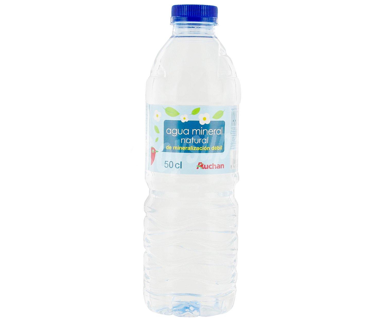 Auchan agua mineral sin gas botella 0 5 litros - Agua sin cal ...