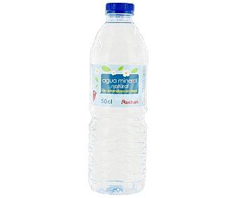 Auchan Agua Mineral Sin Gas Botella 0,5 Litros