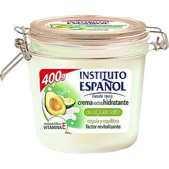 Instituto Español Crema corporal extra hidratante de Aguacate enriquecida con vitamina E frasco 400 ml regula y equilibra Frasco 400 ml