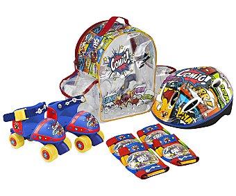Deportes Set de patines ajustables de la talla 24 a 28 mas protecciones con mochila incluida, deportes.
