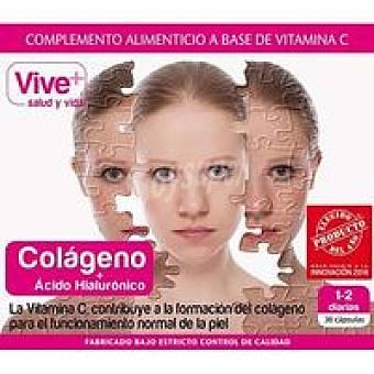 VIVE+ Colágeno + Ácido Hialourónico 30 u