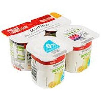 Eroski Basic Yogur desnatado de limón Pack 4x125 g