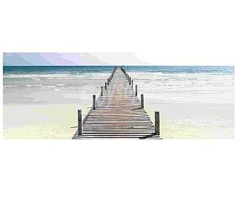 IMAGINE Cuadro con la relajante imagén de un embarcadero de madera con el mar de fondo y dimensiones de 30x80 centímetros 1 unidad