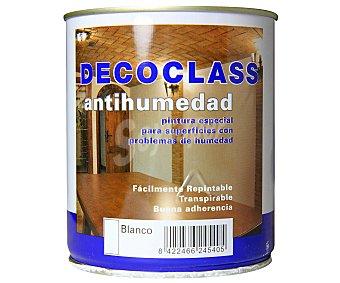 DECOCLASS Pintura Antihumedad Color Blanco 0,75 Litros