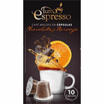 Tutto Espresso Cápsulas de Café con Naranja y Chocolate 10 Cápsulas