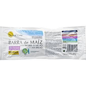 Special Line Barra de pan de maíz sin gluten y sin lactosa Envase 160 g