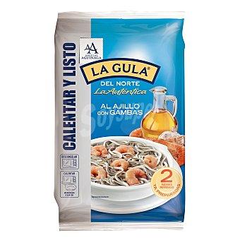Angulas Aguinaga Gulas al ajillo con gambas pack 2 envases 125 g Pack 2 envases 125 g