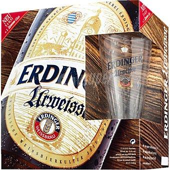 ERDINGER Urweisse Cerveza rubia de trigo alemana Pack 5 botellas 50 cl
