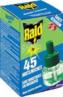 Raid Insecticida elect. liq perfumado rec 45 noches