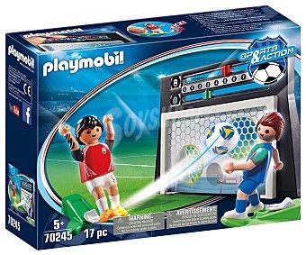 Playmobil Juego de puntería con marcador con 2 figuras incluidas, 70245 Sports & Action playmobil 70245 Juego de puntería