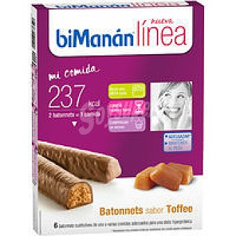 Bimanan Linea Batonnets Toffee Caja 186 g